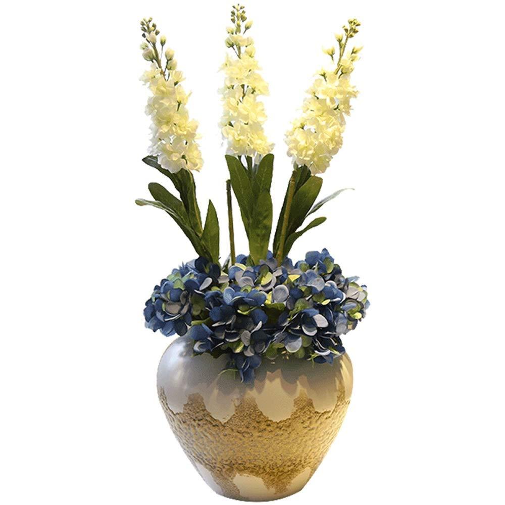 セラミック花瓶用花緑植物結婚式の植木鉢装飾ホームオフィスデスク花瓶花バスケットフロア花瓶 B07RGVQP5L