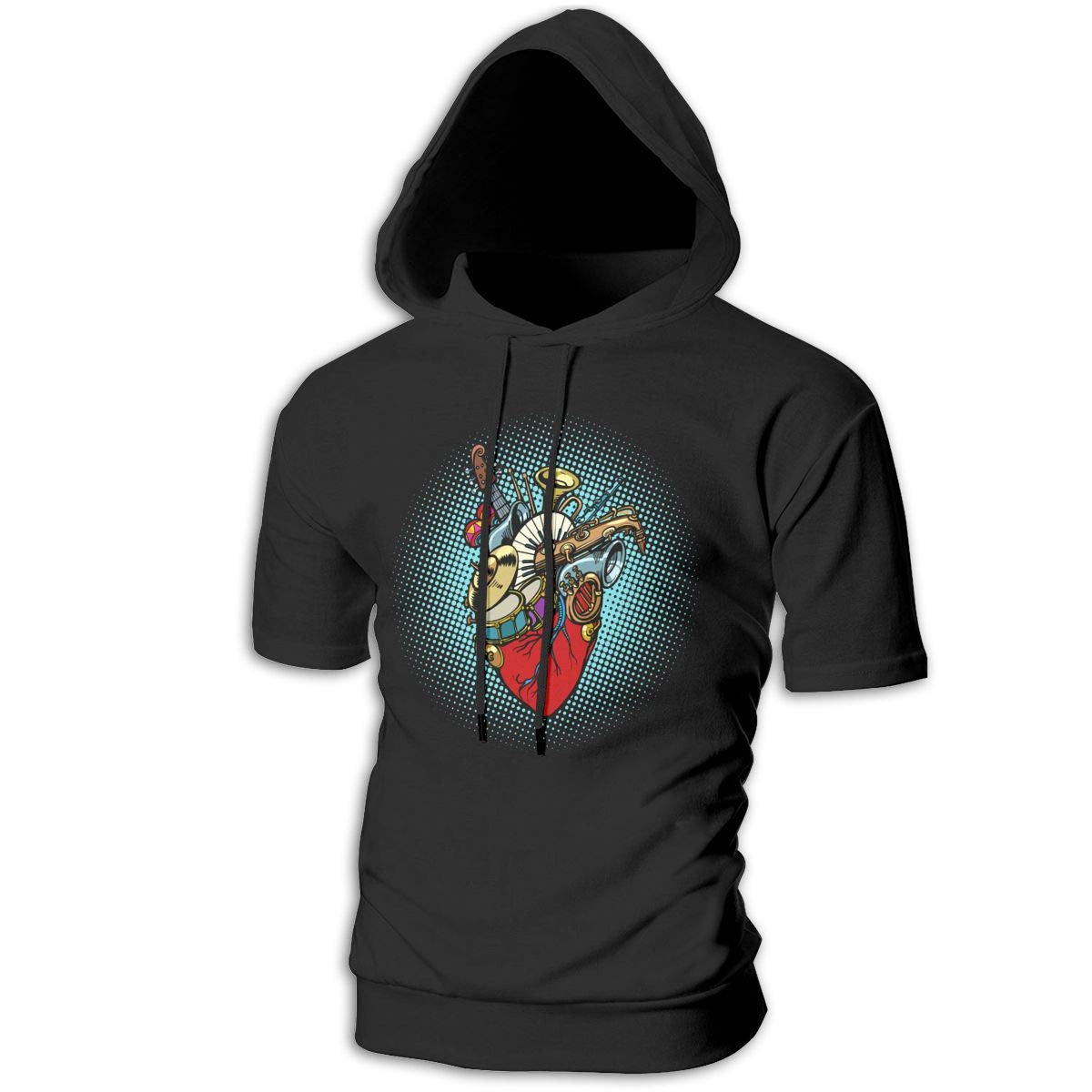 Hengteng Designed New Mens Hooded Music in The Heart Sweatshirts