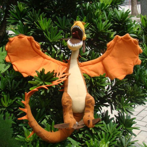 How To Train Your Dragon 2 Plush Toy Monstrous Nightmare Cool Yellow Dragon Doll ()