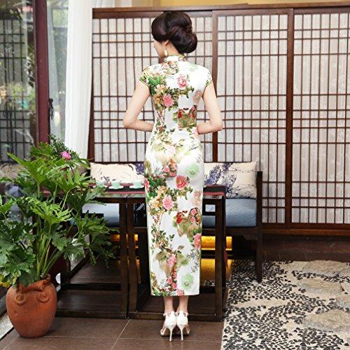 Longue Qipao Traditionnel Femme Acvip Chinoise Fleur Cheongsam Maxi Robe Motif Pour 8qZwq10x