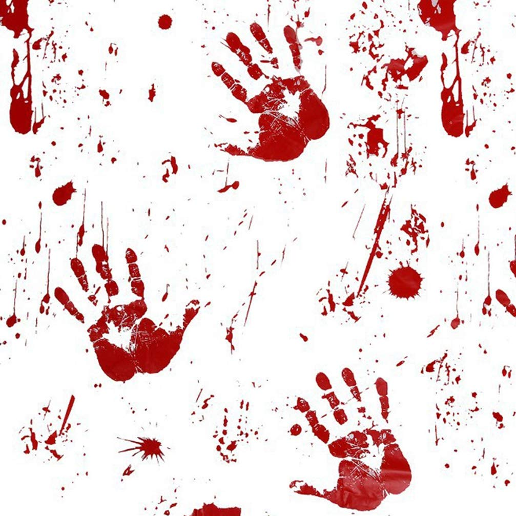 MEIZOKEN Halloween Tablecloth Runner Apron Decoration Horror Hand Print Blood Print Tablecloth for Halloween Party Decoration Haunted House Props 130260cm by MEIZOKEN (Image #3)