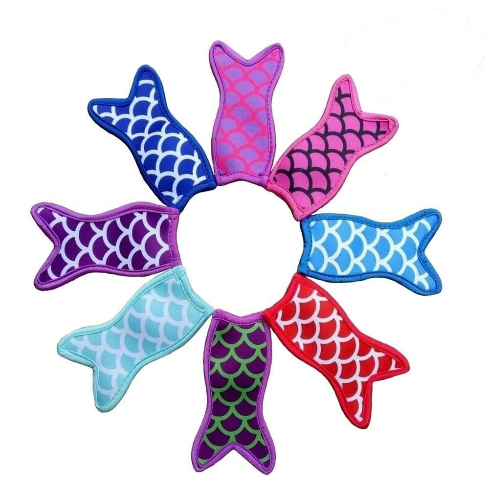 Mermaid Tail Freezer Ice Pop Sleeves - Popsicle Holder - 8 Pack WEN FEIYU by WEN FEIYU