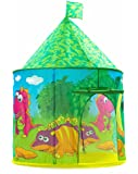 Kids tent Dinosaur Castle Pop-up Play tent for Indoor and Outdoor Fun,Neatly Folds into a Carrying Bag