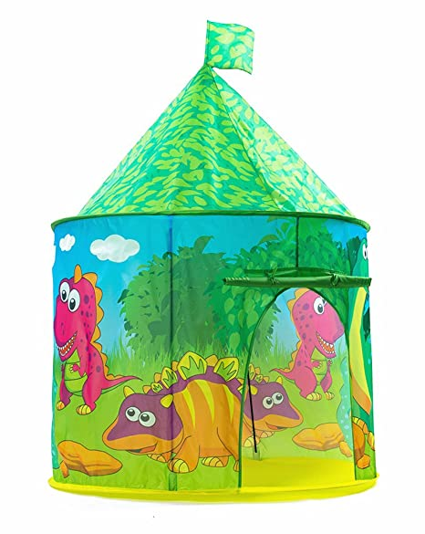 Amazon.com PLAY 10 Kids Tent Dinosaur Castle Pop up Tent for Indoor and Outdoor FunNeatly Folds into a Carrying Bag Toys u0026 Games  sc 1 st  Amazon.com & Amazon.com: PLAY 10 Kids Tent Dinosaur Castle Pop up Tent for Indoor ...