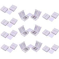 LitaElek 4 Pin Conector en Forma de L de Tira LED RGB 5050 Conector en ángulo Recto de luz de Cinta LED Conector de…