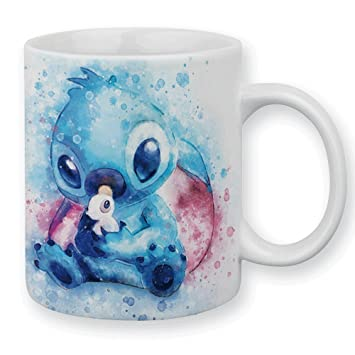 Pastel Et Shop Stitch Kawaii Aquarelle Mug Chamalow IYbygf76v