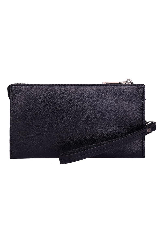 Mens Clutch Bag Business PU Leather Wallet Zipper Purse