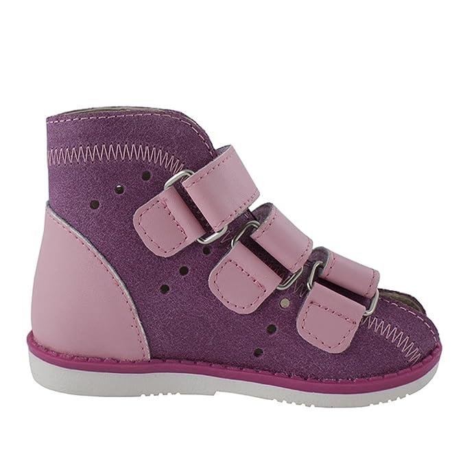 Orthopädie Sandale aus Leder für Kinder (Ort-3r) (25 - 16cm, Marineblau)