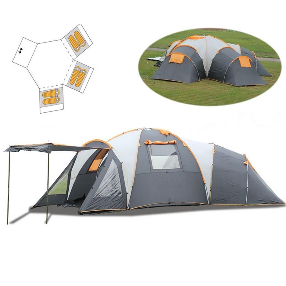 Miao Luxus Camping Zelte, Outdoor OverGrößed Drei Living Zimmer und zwei Wohnzimmer