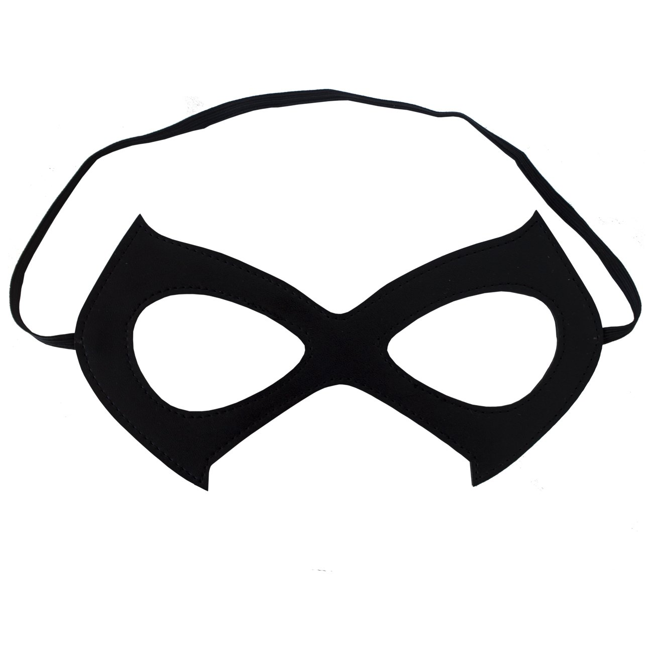 Cat Mask Costume Black Leather Eye Mask - Great Party/Cosplay/Dress-up/Mardi Gras Accessory by Cos Pro