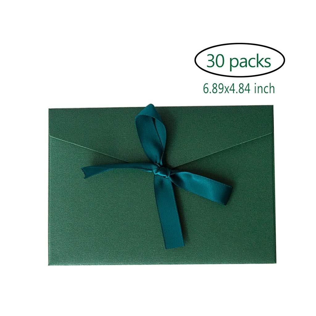 Regalo di Compleanno per San Valentino,6.89x4.84inch Color : Brown Busta Vintage in Tinta Unita portaoggetti Fiocco Creativo invito a Nozze colorato WRHN Busta di invito,Envelopes Busta
