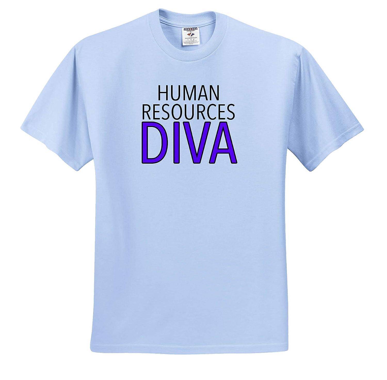 3dRose EvaDane Adult T-Shirt XL Job Humor ts/_310858 Human Resources Diva Purple