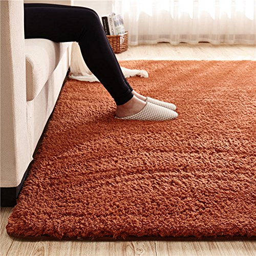 - MAXYOYO Ultra Soft 3.5cm Thicken Sherpa Soft Shag Area Rug Fluffy Living Room Carpet Bedroom Rug 75 by 94 inch Solid Shaggy Area Rug Dining Room Home Bedroom Carpet Floor Mat