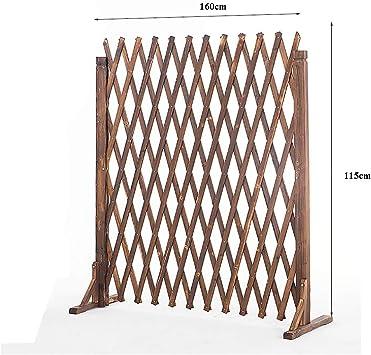 kaige Puerta de Seguridad Gruesa Valla barandilla Cerca Perro Extensible Barrera de Madera del jardín Valla de Ancho Estirable es 34-160cm (Tamaño: 80cmx34cm) WKY (Size : 120cmx34cm): Amazon.es: Hogar