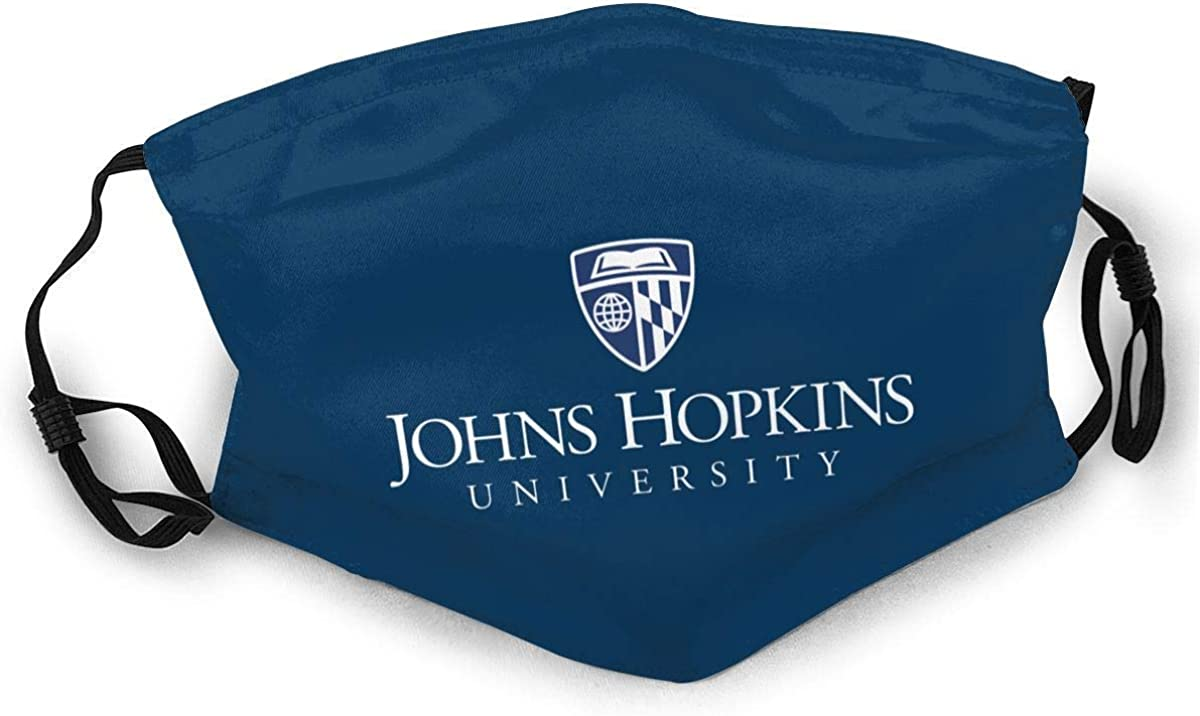 Unisex Reusable Johns Hopkins University Face Mask Outdoor Dust Cloth Mouth Mask Black