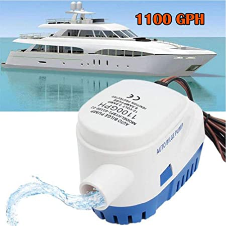 750GPH Automatic Submersible Boat Bilge Water Pump Marine Boats Yacht