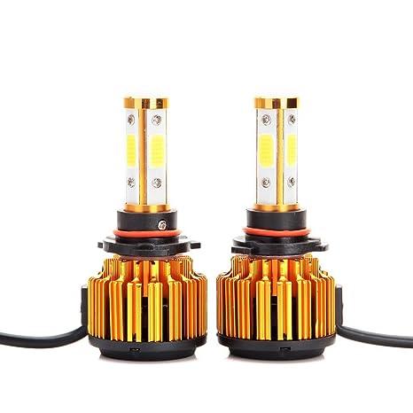 GZCRDZ 2Pcs Serie X6 9005 HB3 H10 Bombillas de faros delanteros LED 60W 8000LM 360 °