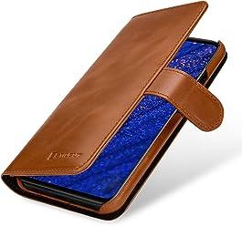 StilGut Custodia a Portafoglio per Huawei Mate 20 Lite, in Pelle con Chiusura Magnetica, Cognac