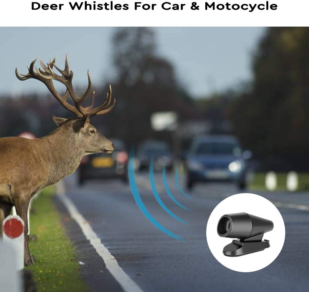 Winzwon Deer Whistles for Car Deer Warning Devices for Vehicles Car Accessories Safety Gift 8 Pack Include Ultrasonic /& Wind Deer Whistle