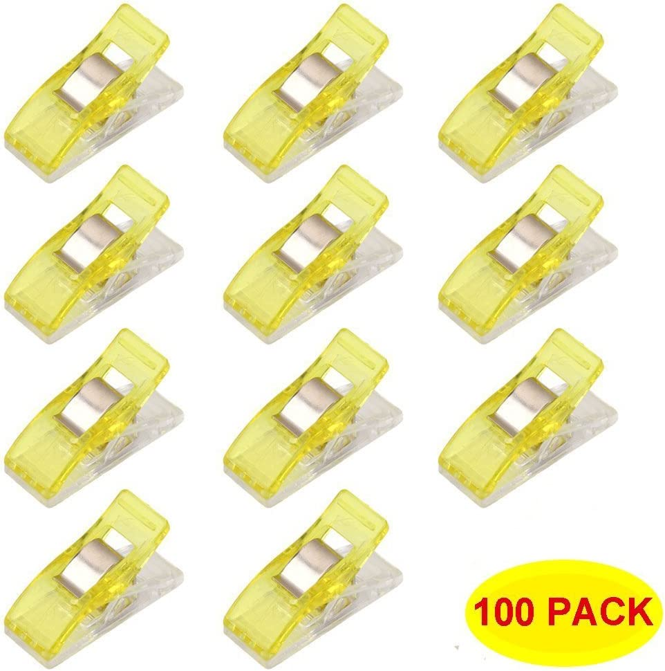 Swity Home 100 Pack Mini Wonder Multi-Purpose Clips Use as Sewing Clips Binding Clips for Quilting Crocheting Purple Knitting and General Purpose