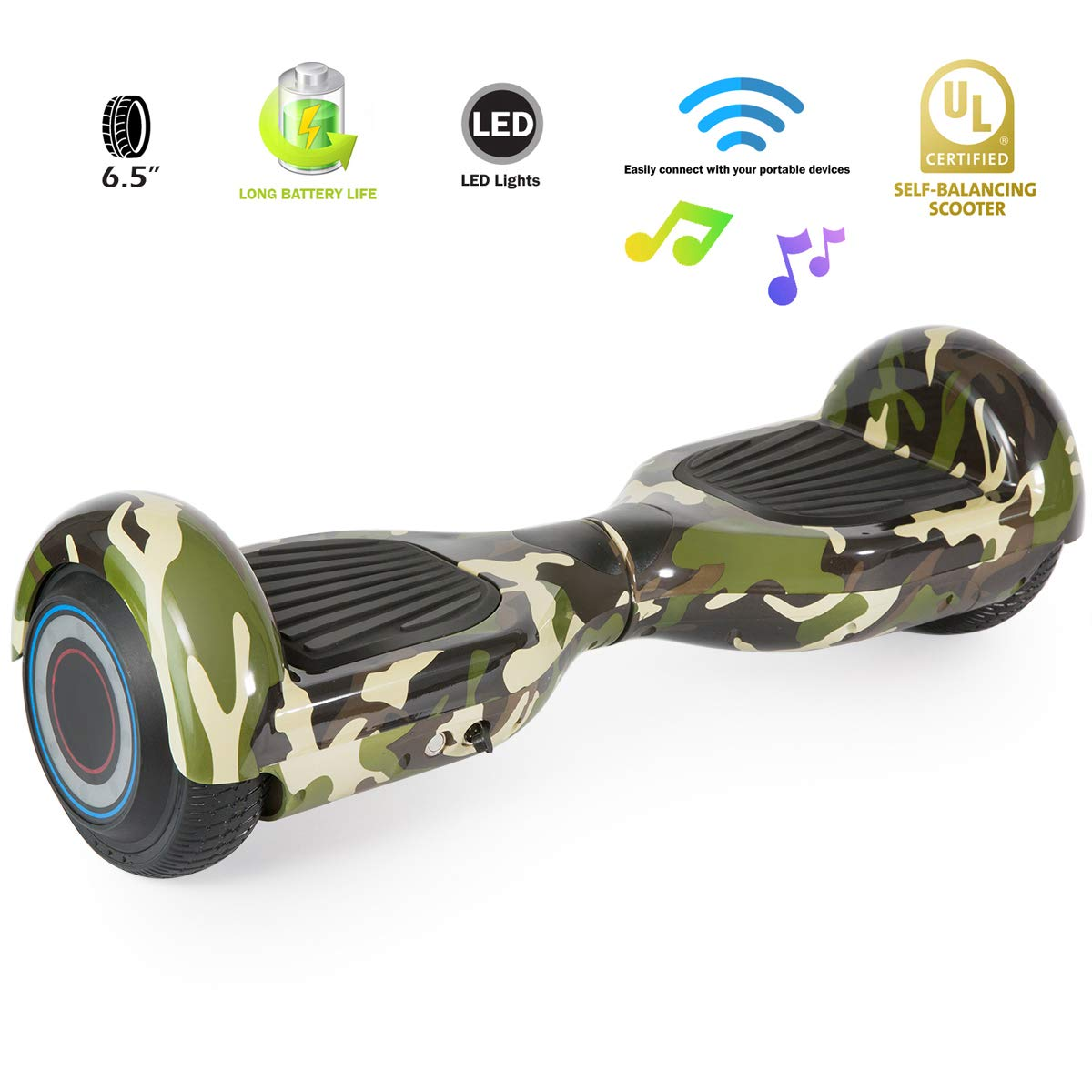 XPRIT Easter Sale Hoverboard w/Bluetooth Speaker (Camouflage) by XPRIT (Image #4)