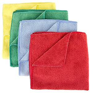 Zwipes Professional Premium Microfiber Cleaning Cloth Towels, 16x16 inch, 12-Pack, Assorted Colors