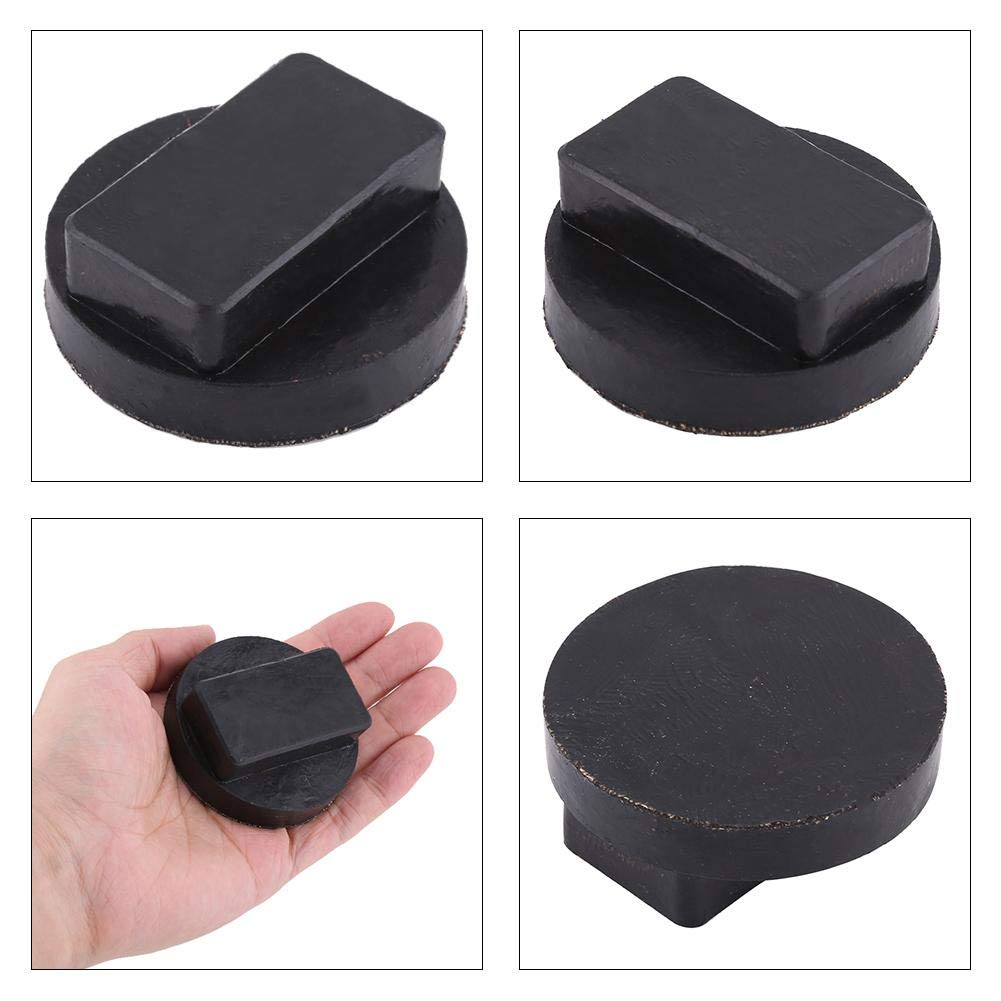 Keenso Schwarz Auto Gummi Sockel Pads Stand Point Sill Pad Adapter Werkzeugaufbock Pad Adapter