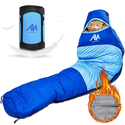 Camping & Hiking Ultralight Down Sport Hiking Sleeping Bags Outdoor Winter Camping White Goose Down Adult Mummy Waterproof Sleeping Bags 3 Color
