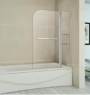 Premier NSSQR2 square Bath Screen with Fixed Panel and Rail - Chrome ...