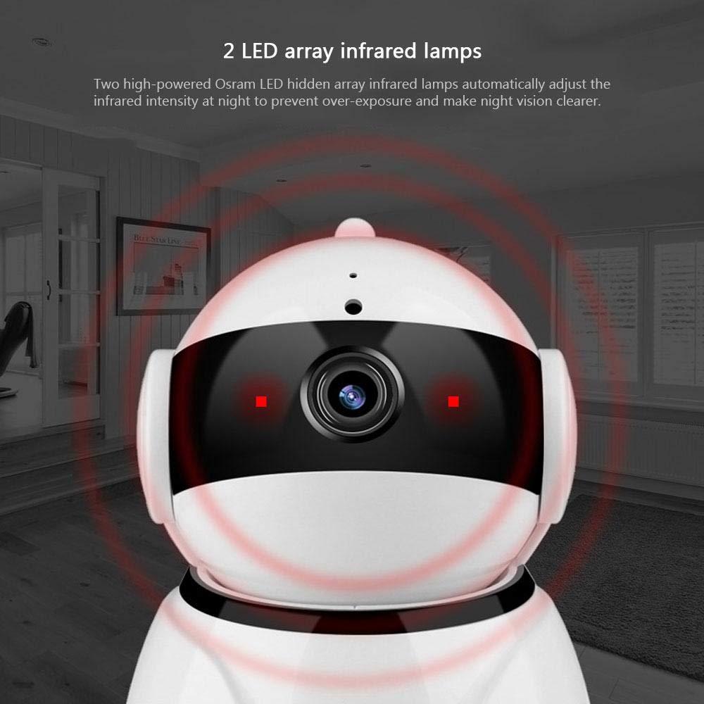 KOBWA Cámara IP WiFi, 1080P HD Dome 360 \u20b\u20b° WiFi WiFi Monitor para bebés Seguridad Seguridad para el hogar Vigilancia IP Cloud CAM Cámara de visión ...