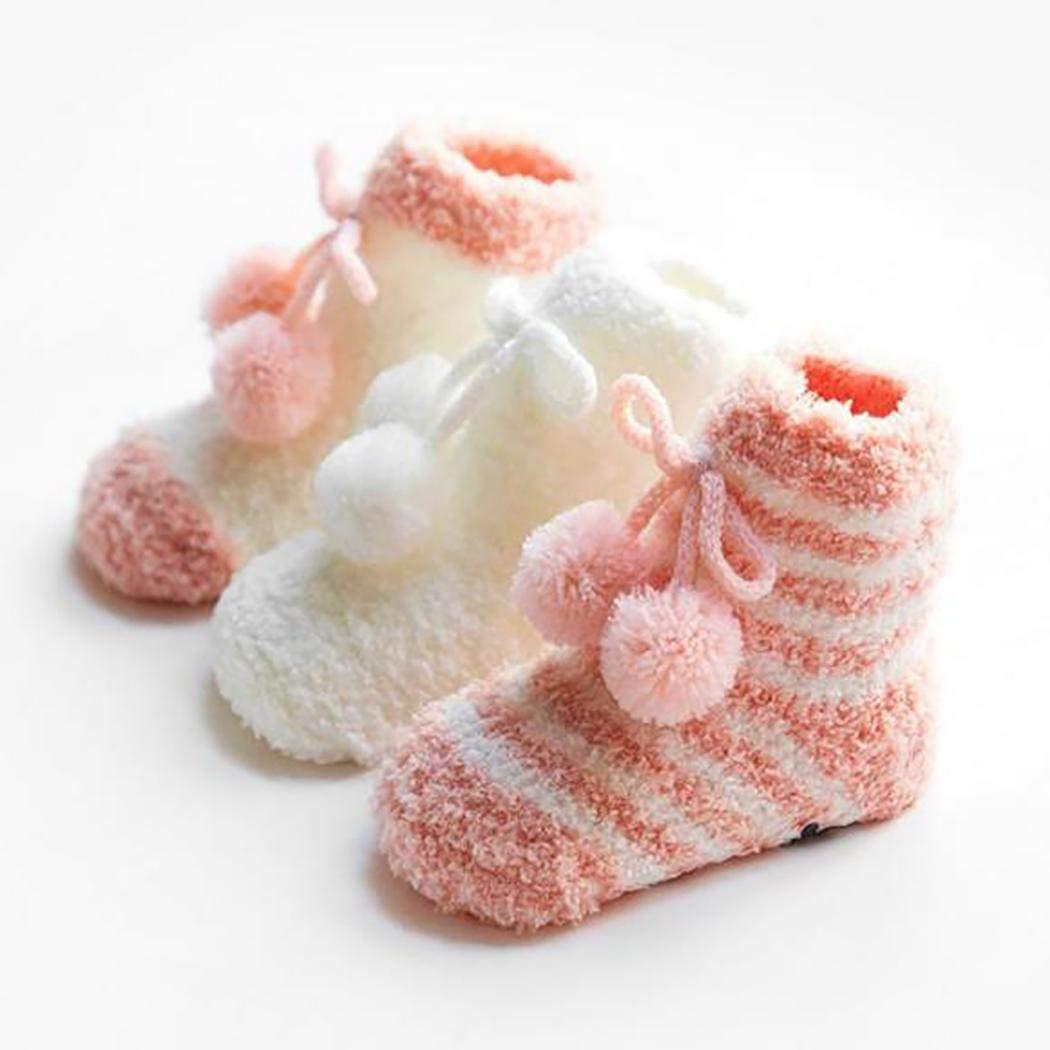 Timesok Childrens Toddler Floor Socks Non-slip Coral Velvet Thickening Socks Socks