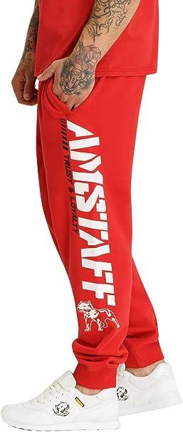 Amstaff Logo 2.0 - Pantalones de chándal Rojo/Blanco XXL: Amazon ...