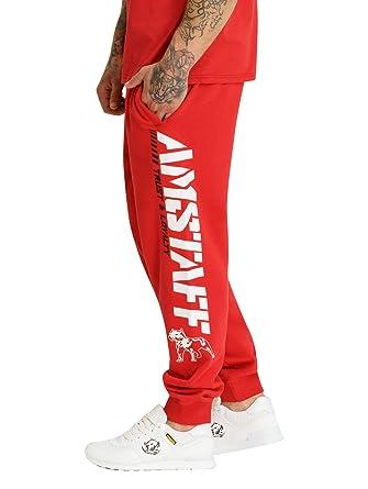 Amstaff Logo 2.0 - Pantalones de chándal Rojo/Blanco M: Amazon.es ...