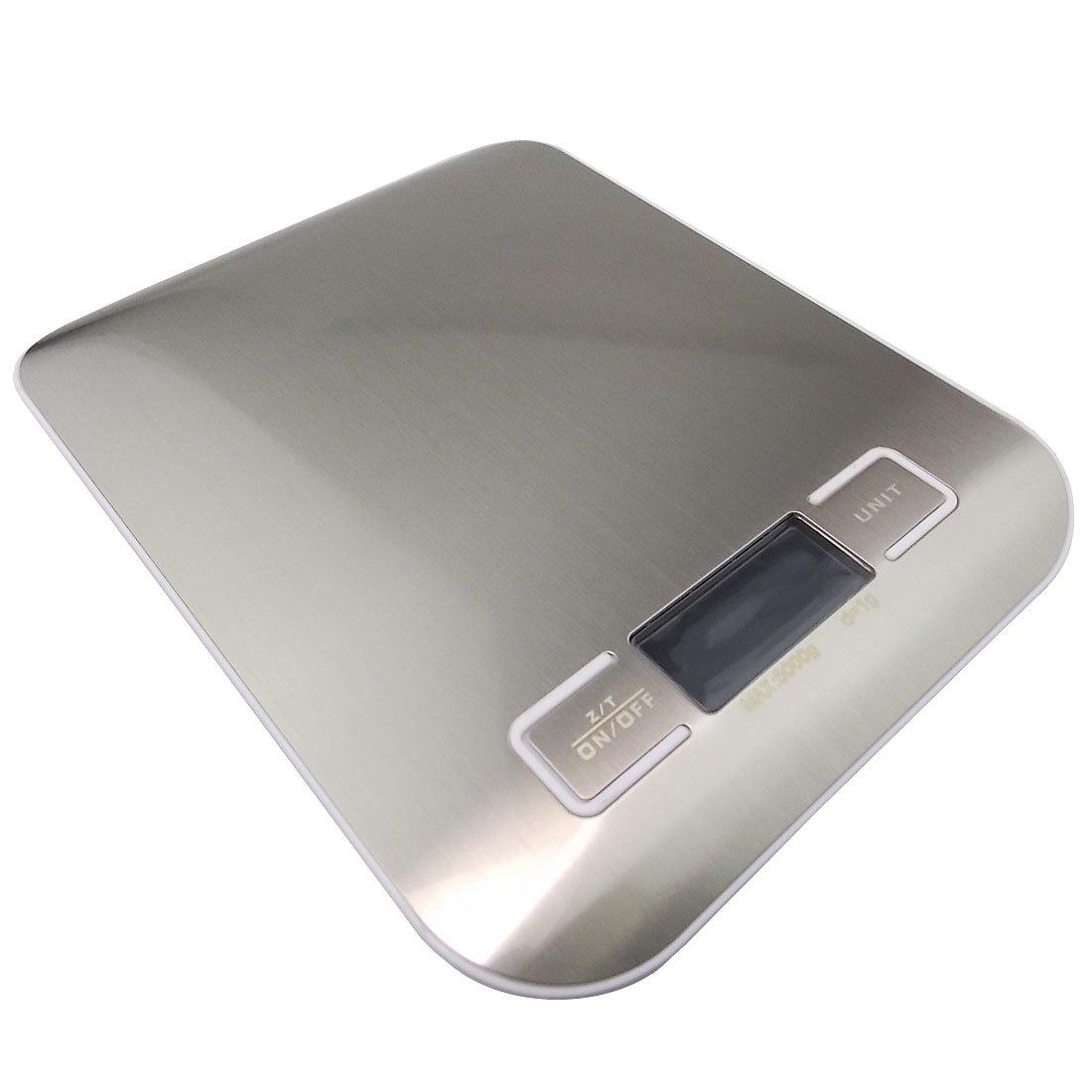 JJOnlineStore-GB vendite???moderno in acciaio INOX Slim digitale LCD bilancia elettronica da cucina cucina casa ufficio postale bilancia pesa fino a 5?kg/5?kilogram in 1?g Birthday Housewarming regalo
