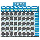 #7: JOOBEF CR2032 Lithium 3V Battery, Electronic Coin Cell Button for Toys Calculators Watches(40 Pcs)
