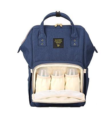 b1f5c8febf4 Amazon.com   SUNVENO Baby Diaper Bag Backpack Mummy Maternity Nappy Bag  Large Travel Waterproof Nappy Changing Bag Insulated Backbag (Navy)   Baby