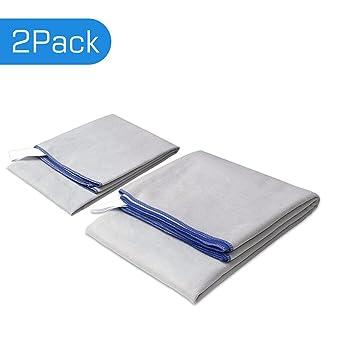 Microfibra toalla de viajes deportes de secado rápido Super absorbente antimicrobiana refrigeración toalla para gimnasio, playa, camping, natación, ...