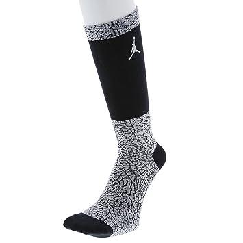 Nike Michael Jordan Ele Print Crew Calcetines, Hombre, Gris Black/Wolf Grey, L: MainApps: Amazon.es: Deportes y aire libre