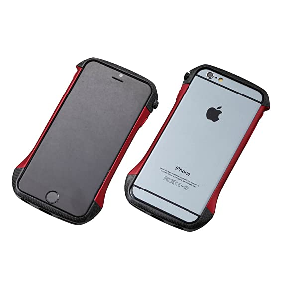 new concept 5d11d a2977 Deff Cleave Hybrid Super Strong Bumper for iPhone 6 (Carbon Red)