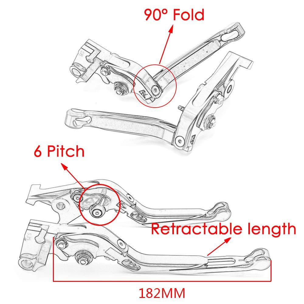 passend f/ür Suzuki Bandit 650S Bandit 1250 // S Bandit 650,Black CYRDJ Kupplungshebel Bandit 1200 1 Paar einstellbare zusammenklappbare CNC-Kupplungshebel mit kurzer Bremse