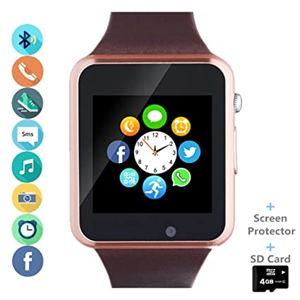 Smart Watch Phone Smartwatch with SIM Card Slot Camera Pedometer Text Call Notifications Compatible with Android Samsung LG Sony and iPhone (Partial ...