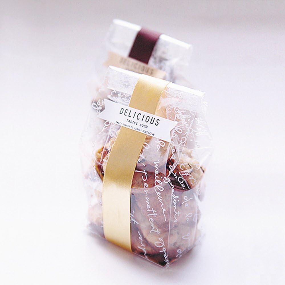 100Pcs Cookie Packaging Transparent Cellophane Dot Food Storage Valve Bag MP