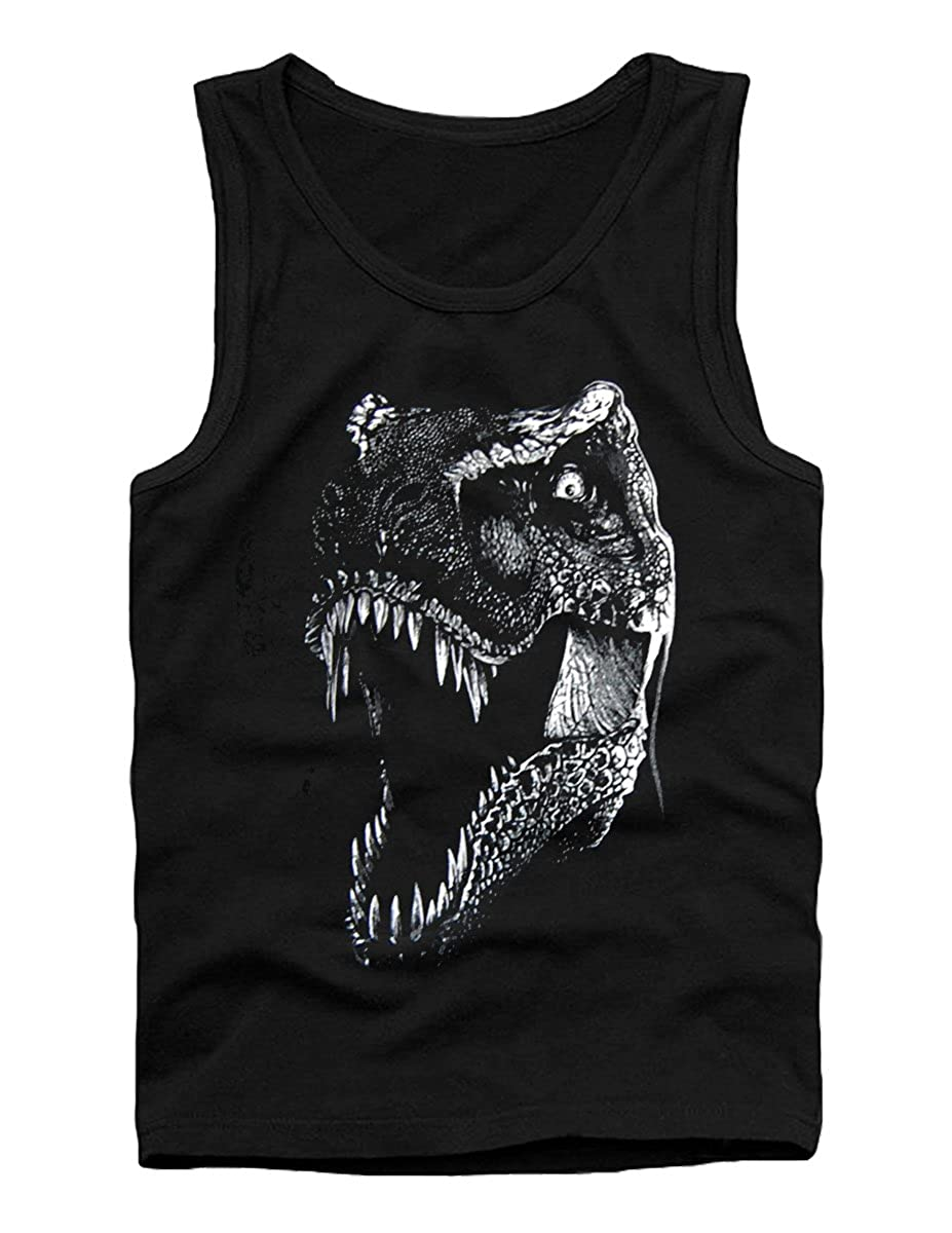 SODAtees Roaring Dinosaur T-Rex Mens Tank Top Shirt Vest Graphic Design