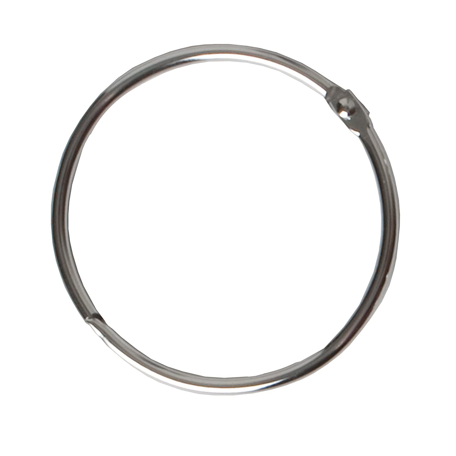 Amazon.com: Maytex Metal Circular Shower Ring, Chrome, Set of 12 ...