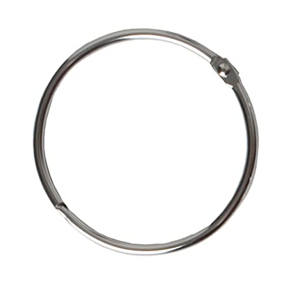 Amazon.com: Maytex Metal Circular Shower Ring, Chrome, Set of 12 ...