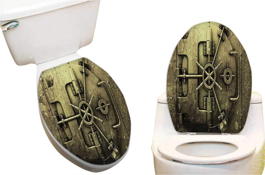 Terrific Amazon Com Toilet Cover Sticker Style Bank Vault Alphanode Cool Chair Designs And Ideas Alphanodeonline
