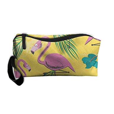 Amazon.com: Bolso de viaje de flamenco rosa y hojas de ...