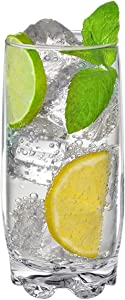 Drinking Glasses set of 8 Highball Glass cups By Home Essentials & Beyond – Premium Cooler 13.25 Oz. Glassware – Ideal for Water, Juice, Cocktails, Iced Coffee, Iced Tea.