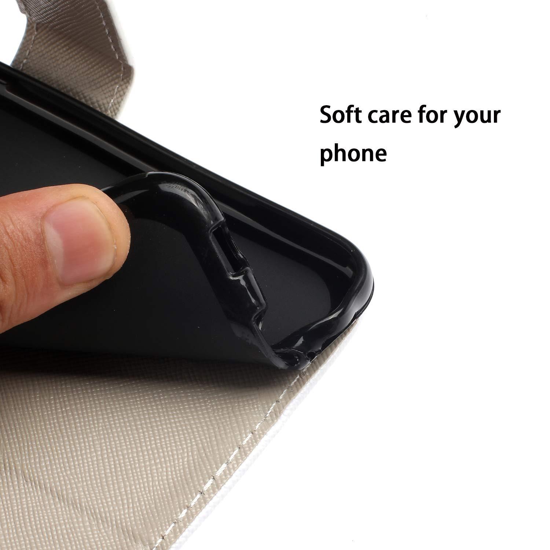 Bunt Huawei P30 Lite H/ülle Leder Standfunktion Kartenf/ächer Magnet Handyh/ülle Extra D/ünn Klapph/ülle Lederh/ülle Lanyard Tasche PU Wallet Case Cover Gr/üne Bl/ätter HUDDU Schutzh/ülle Huawei P30 Lite