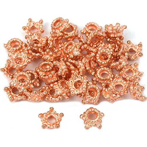 (Star Bali Bead End Caps Copper Plated 7.5mm Approx 45)